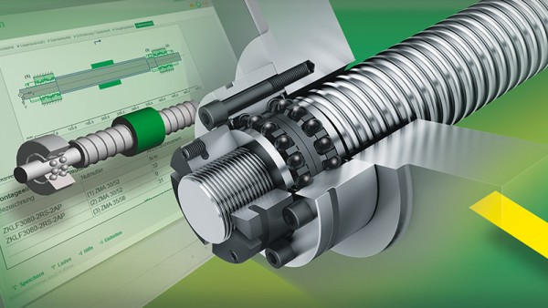 Free of charge software module for the calculation of screw drive bearing arrangements